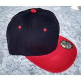 Boné Aba Reta Preto Aba Vermelha Snapback Liso Tecido 6c833f0763d
