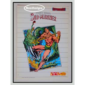 Poster - Príncipe Namor - Marvel Comics - Anos 80 - F(605)