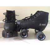 Patins Quad Traxxart X-trike Usado 3x Tamanho 36/37