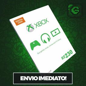 Microsoft Gift Cartão Xbox Br Brasil R$230 (100+100+30)reais