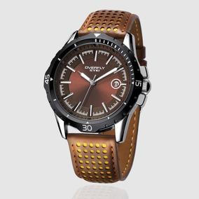 c40ecf4b8d6 Relógio Masculino Esportivo Militar Quartz -couro Importado