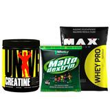 Kit Whey Pro 1,5kg + Creatina Universal 200g + Maltodextrina