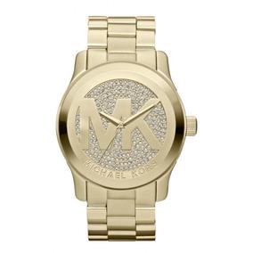 59368962643ab Relógio Michael Kors Mk5706 Dourado Com Cristal Frete Grátis ...