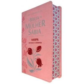 Bíblia De Estudo Da Mulher Sábia Letra Grande Harpa Rosa Zip