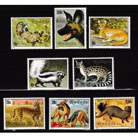 Selos Ruanda 1981 Fauna Animais Carnívoros Lobo Onça Hiena