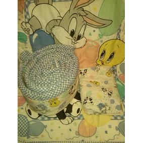 Cobertor Edredon Y Protector De Cuna Looney Tunes