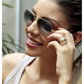 Oculos Rayban Dourado Azul Degrade 3025 - Óculos no Mercado Livre Brasil d99c28cb89