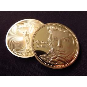 Moneda Medalla Michael Jackson The King Of Pop Color Oro
