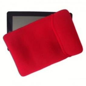 Capa Para Tablet Neoprene Dupla Face Vermelho E Preto 7 8 10
