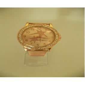 d390e8b6730 Relógio Pulso Feminino Mryes Dourado Pulseira Aço Dourada