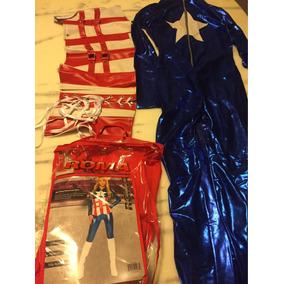 Fantasia Feminina Tam M Capitão América Completa Escu f54b025b61e