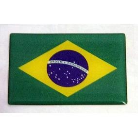 Emblema Adesivo Resinado Bandeira Do Brasil Linha Troller