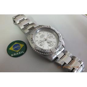 Relogio Elgin-cronometro-aço Inox - Coroa Despanada
