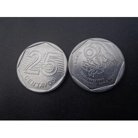 Moeda 25 Centavos F A O Ano 1995 Escassa
