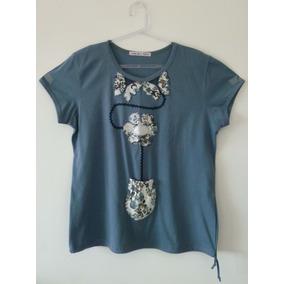 Blusa De Musseline Com Detalhe - Calçados fe2ba688324