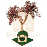 Árbol Trepador Para Gatos Con Casa (artesanal)