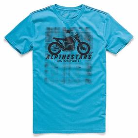 Camiseta Alpinestars Am Ride Azul Oferta Natal