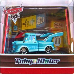 Disney Cars Orig.mattel Tokyo Mater . Case Com Luz.