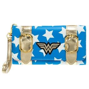 Wonder Woman Exclusiva Billetera Wristlet Dc Comics Original