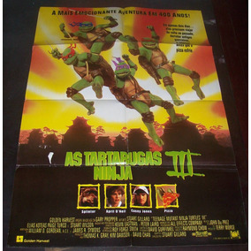 Cartaz/poster Cinema Filme As Tartarugas Ninjas 3