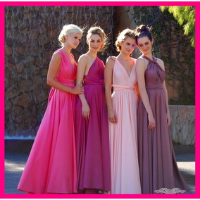 Vestidos Convertibles 30 En 1 Damas D Honor Largo Top + Dvd