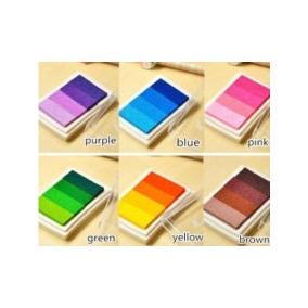 Almohadillas Tinta 4 Colores Arcoiris Arbol De La Vida