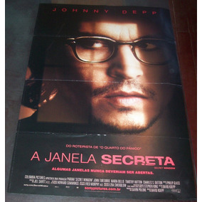 Cartaz/poster Cinema Filme A Janela Secreta - Johnny Depp