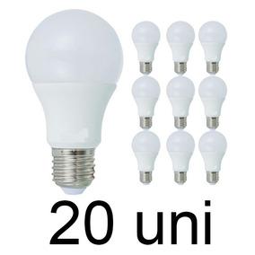 Kit 20 Lâmpada Bulbo Super Led 16w Branco Frio E27 Bivolt