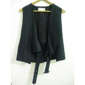 Chaleco Vestir Mujer Elegante Negro T M 44 Imperdible 52276653cfe4