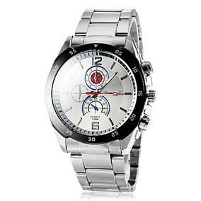 Relógio Masculino Luxo Elegante Prata