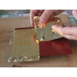 500 Hojas Oro Sin Papel Arte 16 X 16 Instructivo Gratis