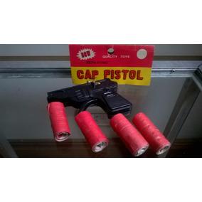 Pistola Juguete 8,5 Cm + 20 Rollos Cebitas- Devoto Toys