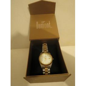 Relógio Feminino Dumont 5atm Prata E Dourado
