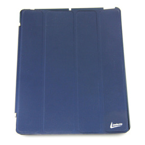 Capa Flip Cover Para Ipad® Azul Luxo Fecho Magnético.