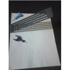 Paquete 6 Regletas Braille Con 6 Punzones.