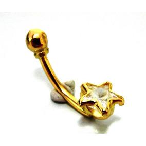 Piercing Estrela Em Ouro Branco Com Cristal Swarovski - Piercings no ... 354a5d61d5