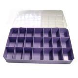 Caixa Plastica Organizadora 21 Divisórias - Roxa