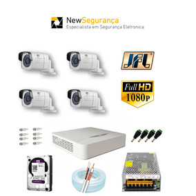 Kit Cameras Segurança Jfl 4 Canais