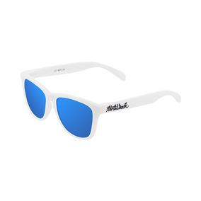 Lentes De Sol Northweek - Matte White Blue Polarized