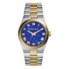 9e88cd56ce49e Relógio Luxo Michael Kors Mk5893 Orig Anal Gold Silver Blue!