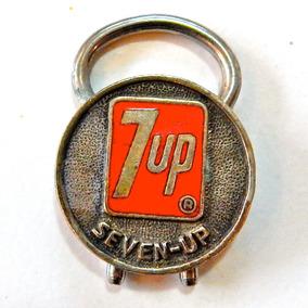 Chaveiro Antigo 7up - Seven-up Único - Alpaca - Anos 70