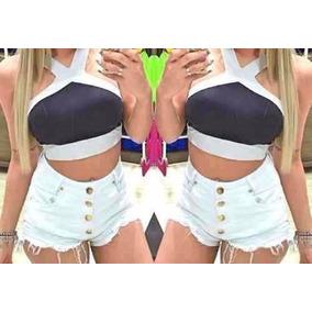 Short Com 4 Botoes - Shorts Jeans para Feminino no Mercado Livre Brasil 0393e6a0d4db1