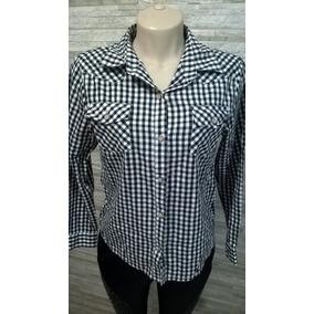 10962abbc8 Linda Camisa Feminina Xadrez - Preta E Branca - P