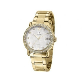Relógio De Pulso Quartz Ana Hickmann Dourado Ah28615h .