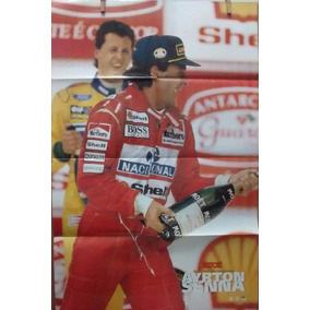 Revista-poster Uma Estrela Chamada Ayrton Senna 2 - Poster
