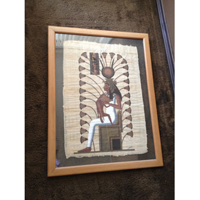 Cuadro Papiro Original Exclusivo Importado Coleccion Sala
