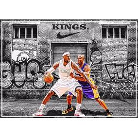 Poster Kobe Bryant X Lebron James 60x84cm Basquete Nba Kings