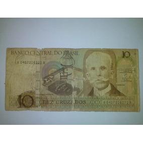 Cédula Nota Dez Cruzados Original - Colecione!