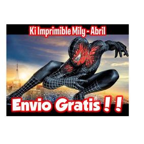 Kit Imprimible Hombre Araña Spiderman 2 Tarjetas Candy Bar