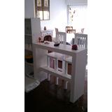 Mesa Desayunadora Barra Arrime + 2 Taburetes Minimalista
